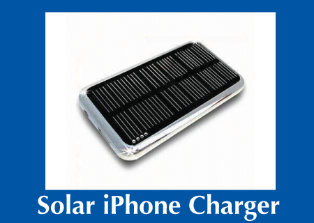 Custom Solar iPhone Charger